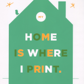 My home is where i print. A Design, Fine Art, and Screen-printing project by Barba - 01.28.2015