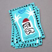 Postal Navideña de Terranova. A Screen-printing project by Barba - 02.17.2015