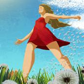 Red dress. Un progetto di Design e Illustrazione di juli vasilieva - 19.02.2015