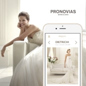 Página web responsive de Pronovias. Un proyecto de Diseño, UI / UX, Diseño gráfico y Diseño Web de Ulyana Kravets - 21.04.2015