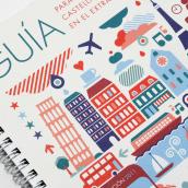 Guia para Jóvenes Castellano Manchegos en el Extranjero . Un projet de Design graphique et Illustration de Juan GPM - 31.12.2010