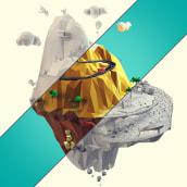 Low poly mountain. Un projet de 3D, Direction artistique, Design graphique , et Sculpture de Francisco Cabezas - 30.05.2015