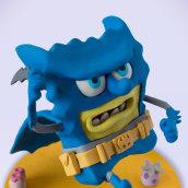 BatBob. Un proyecto de Diseño de juguetes, Diseño de personajes y Escultura de Gustavo Vargas Tataje - 07.06.2015