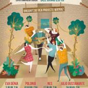 Las Naves #FCGRAO2015 festival de música. Un proyecto de Ilustración, Dirección de arte y Diseño gráfico de David van der Veen - 21.06.2015