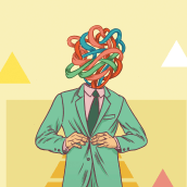 Cabezas enredadas. Un proyecto de Diseño de personajes e Ilustración de Gustavo Vargas Tataje - 26.07.2015