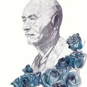 Taisen Deshimaru. A Illustration, Bildende Künste und Malerei project by Albert Vila - 02.08.2015