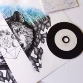 """Wolf in """"Following Cresto River"""". Un proyecto de Bellas Artes, Diseño e Ilustración de Vanesa Santamaría Trinidad - 04.05.2015"""