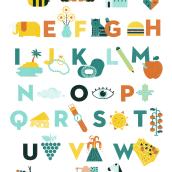 ABC POSTER. Um projeto de Design gráfico e Ilustração de ana seixas - 14.07.2015