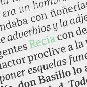 Recia. Um projeto de Design gráfico e Tipografia de Carlos de Toro - 13.10.2015