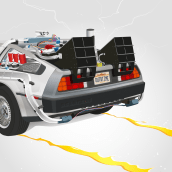 Back to the Future Tribute. Um projeto de Ilustração, Direção de arte e Design gráfico de Gonzalo Sainz Sotomayor - 22.10.2015