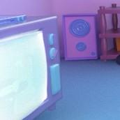salon simpsons primeros renders. Um projeto de 3D, Animação, Design gráfico, Design de interiores, Design de iluminação e Cinema de victor miguel peñas cogolludo - 27.10.2015
