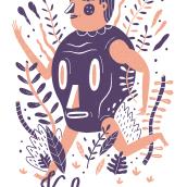 ITZMIN T-SHIRT. Um projeto de Design, Ilustração, Design de personagens, Design de vestuário, Moda e Serigrafia de Arantxa Recio Parra - 06.11.2015