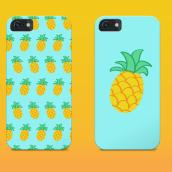 Pineapple   Pattern Design. Un proyecto de Diseño, Ilustración y Diseño gráfico de Zeltia Garzía - 22.11.2015