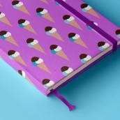 Cloud Ice-Cream   Pattern Design. Un proyecto de Diseño, Ilustración y Diseño gráfico de Zeltia Garzía - 22.11.2015