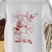 Camisetas serigrafiadas #RAP (por encargo). Um projeto de Ilustração e Serigrafia de Leandro Mosco - 25.11.2015