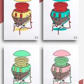 Eat your own insanity   comete tu propia locura   ilustración y marca. Un proyecto de Ilustración de Saúl Arribas Miguel - 01.12.2015