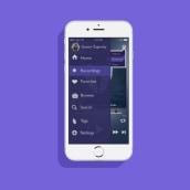 """Hone - App UI. Um projeto de Design gráfico e UI / UX de Gastón """"Sasu"""" Zagursky - 09.12.2015"""