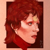 David Bowie. A Illustration, and Fine Art project by Judith González - 01.11.2016