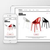 Página web responsive de Foca. Un proyecto de Diseño, Motion Graphics, UI / UX y Diseño Web de Ulyana Kravets - 25.01.2016