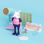RATTUS CITIZEN . Um projeto de 3D, Design de personagens e Ilustração de Juan Felipe Amaya Guarin - 27.01.2016