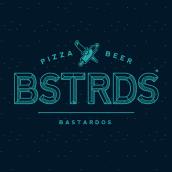 BSTRDS - PIZZA & BEER. A Illustration, Kunstleitung, Br, ing und Identität und Grafikdesign project by Toñito Balderrama - 19.02.2016