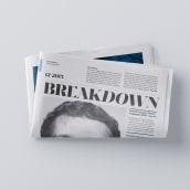 Breakdown Newspaper. Um projeto de Design editorial e Tipografia de Carlos de Toro - 06.03.2016