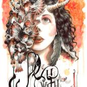 Esther. A Illustration, Fashion, and Calligraph project by Vanesa Izquierdo Ruiz - 07.26.2015