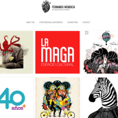 Portfolio Fernando Mendoza Ilustrando ideas. Um projeto de Web design de Fernando Mendoza - 10.03.2016