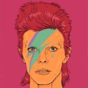 Bye David Bowie. Un proyecto de Diseño e Ilustración de Miss Aoki - 19.03.2016
