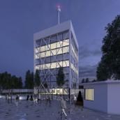 3D Edificios oficinas. A 3D, and Architecture project by Sergio Fernández Moreno - 03.22.2016