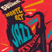 Monterey Jazz Festival 2015. Um projeto de Eventos, Ilustração e Tipografia de Juan Felipe Amaya Guarin - 12.04.2016