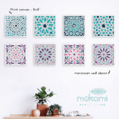 Moroccan canvases wall decor by Mokami Design. A Design, Crafts, and Product Design project by Noel del Mar - 04.07.2016