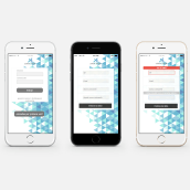 Login Mobile. A Design, UI / UX, Webdesign und Webentwicklung project by Nuria Zapater - 02.02.2016