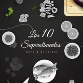 Infografía interactiva: 10 Superalimentos. A Design, Information Architecture, Interactive Design, Multimedia & Infographics project by Genially Web - 05.30.2016