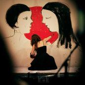 Live-painting Cabaret Rotante 2014_ Matadero Madrid. Un proyecto de Bellas Artes de Anna Lisa Miele - 05.06.2016