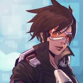 Personaje basado en tracer de Overwatch (Primer personaje). Un proyecto de 3D, Animación, Diseño de personajes y Diseño de juegos de Nestor Duarte - 10.06.2016