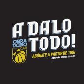 Campaña Abonos 2016/17 para el Obradoiro CAB. Um projeto de Direção de arte e Publicidade de Humberto - 30.04.2016