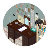Illustraciòn - Habitaciòn. Un proyecto de Ilustración, Diseño gráfico y Diseño de interiores de Anna Iacovino - 19.06.2016