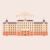 Títulos de crédito El Gran Hotel Budapest. Um projeto de Motion Graphics de Diego Ramírez - 12.11.2015