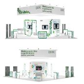 Stand IBM en Digital Enterprise Show. Un progetto di Design, Pubblicità, 3D, Direzione artistica, Br, ing e identità di marca, Eventi, Architettura d'interni, Interior Design, Lighting Design, Product Design , e Scenografia di Oscar Aparicio Tejido - 24.03.2016