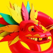 Quetzalcōātl. Un proyecto de 3D de Jorge Fernández Linares - 02.09.2016