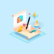 From Paper to Pixels - Illustrations. Um projeto de Design, Ilustração e Direção de arte de Narciso Arellano - 05.09.2016