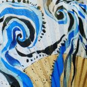 Creaciones_Abanicos pintados a mano. Un progetto di Design, Design di accessori, Artigianato, Belle arti , e Pittura di Ana Darder Pizá - 11.09.2016