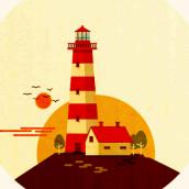 The Lighthouse . Un proyecto de Ilustración, Motion Graphics y Animación de Maria Dolores Abujas - 13.09.2016