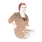 Retrato de la escritora Paula Contreras. Um projeto de Ilustração de Julia Lillo García - 28.02.2015