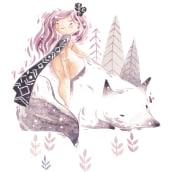 White Wolf. Um projeto de Artes plásticas, Design de personagens e Ilustração de Lydia Sánchez Marco - 26.09.2016