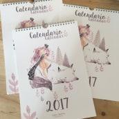 Calendario 2017. Um projeto de Artes plásticas, Design de personagens e Ilustração de Lydia Sánchez Marco - 27.09.2016