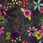 Diseño de estampados - Fancy Florals. Un proyecto de Diseño, Ilustración, Diseño de complementos, Diseño de vestuario, Moda y Diseño gráfico de Laura Martos - 02.10.2016