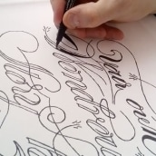 Lettering sobre tela. A Graphic Design, T, pograph, and Calligraph project by LetteringShop - 10.06.2016