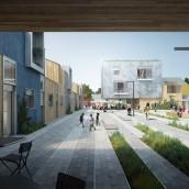 Residencia de estudiantes en Tarragona. Un proyecto de Fotografía, 3D, Arquitectura, Arquitectura interior y Postproducción de Phrame - 31.10.2015